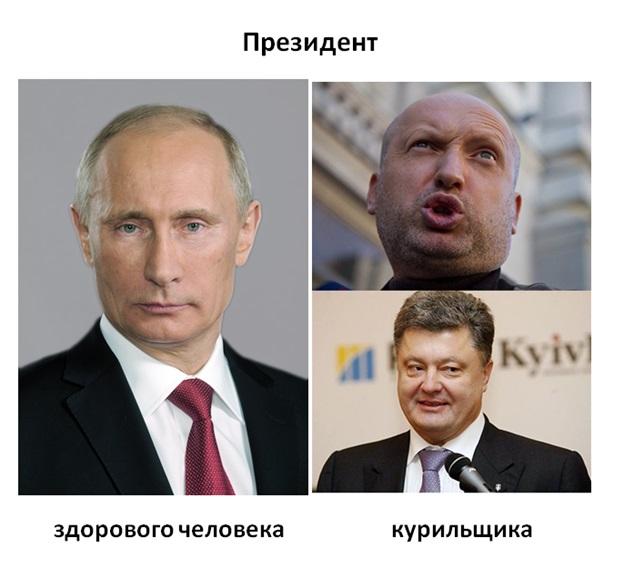 Президент России против Президента Украины