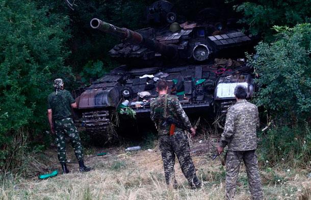 Силы АТО отступают от Луганска