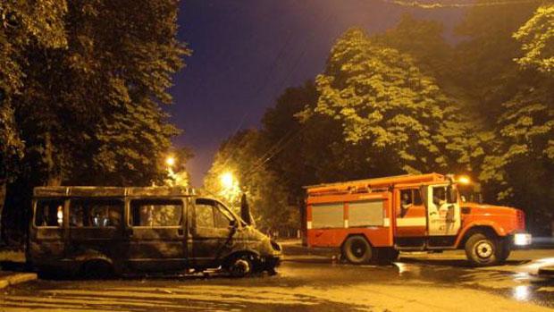Обстрелянный Артёмовск и сгоревшая маршрутка