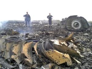 Разрушенный Боинг 777