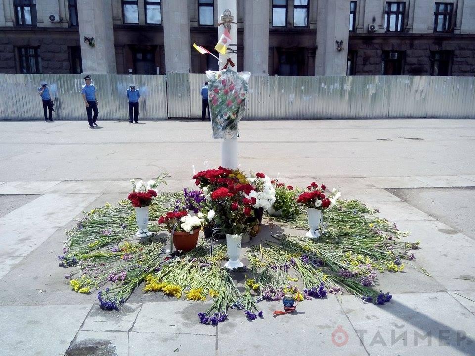 Одесситы восстановили мемориал погибшим в доме профсоюзов