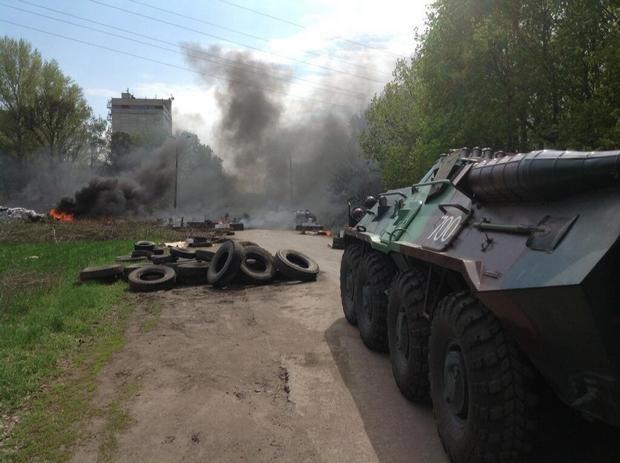 Ополченцы вырвались из Славянска