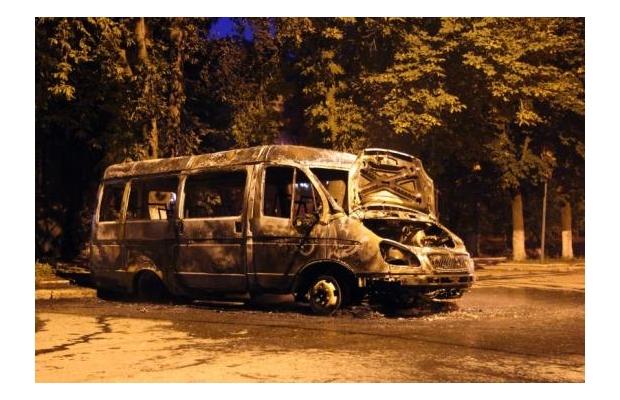 В Артемовске сгорела маршрутка
