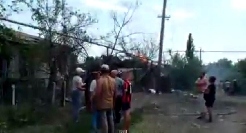 Авиаудары по Станице Луганской и Кандрашевке