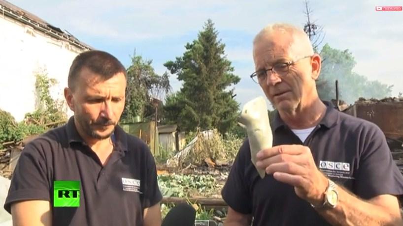 ОБСЕ: В Луганске бомбят исключительно по мирным целям