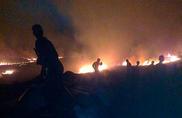 Разбитая «Градом» под Свердловском украинская техника