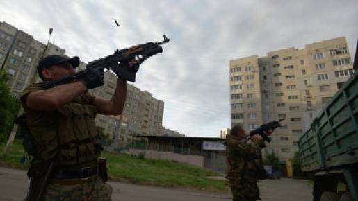 На улицах Луганска идут бои