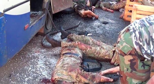 уничтожили автобус с боевиками правого сектора