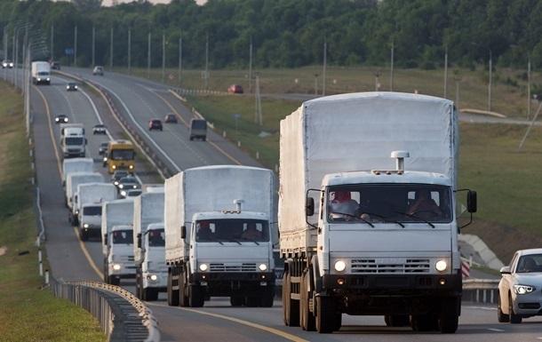 Российский гуманитарный конвой двинулся к Луганску