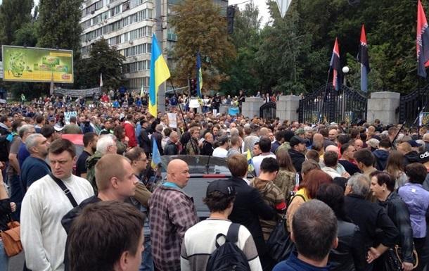 В Киеве требуют отставки Порошенко