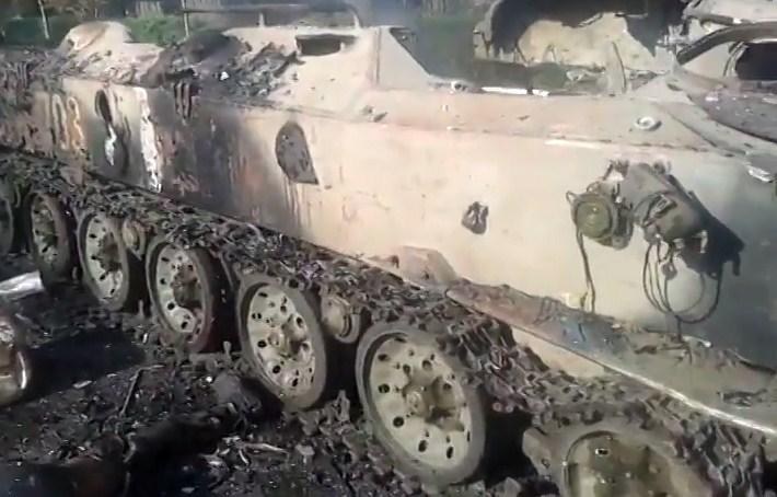 Бои за Шахтерск - украинские десантники попали в засаду