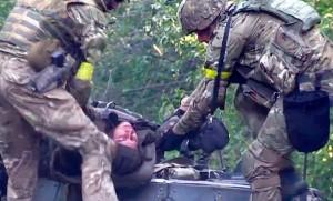 Каратели несут потери под Иловайском