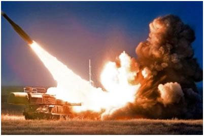 Фото 10. Старт зенитной ракеты ЗРК «Бук М-1»