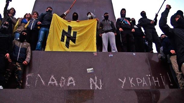 нацисткая символика на памятнике ленину в харькове