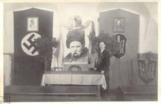 За русофобство, за ненависть Тараса Шевченко к русским, фашисты разрешали ставить портреты Шевченко рядом с портретом Гитлера и сохранили его памятник в Киеве