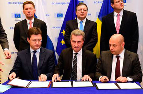 Россия Украина и ЕС подписали газовый договор