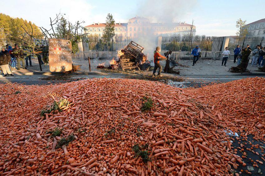 Морковка на дороге. Город Авиньон