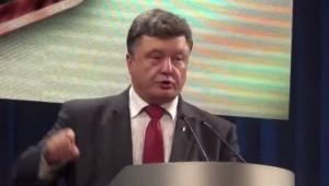 Пьяный Порошенко рассказал какие меры геноцида будет применять к жителям Донбасса