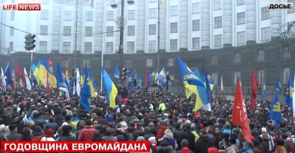 Киев: марш в честь годовщины майдана