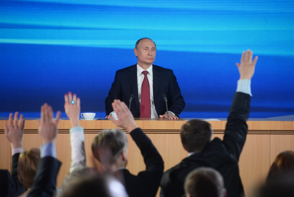 Итоговая пресс-конференция Владимира Путина 18 декабря 2014