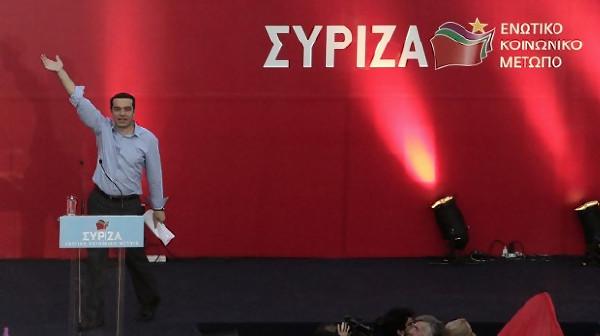 в Греции побеждает партия СИРИЗА
