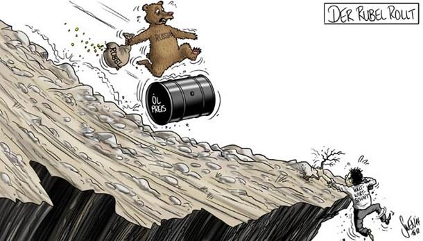 Падение курса рубля и обвал цен на нефть