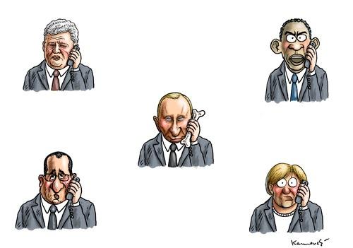 Переговоры мировых лидеров с Путиным