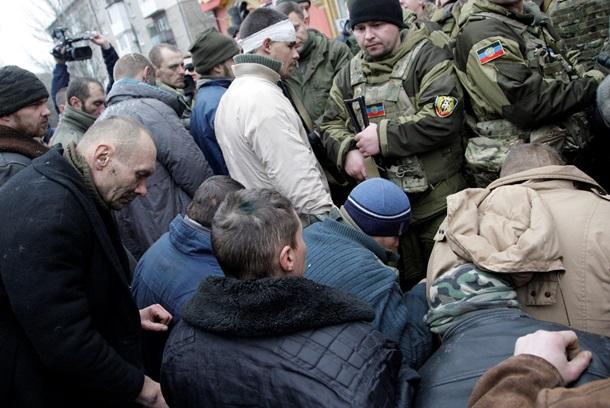 Киборги на коленях в Донецке