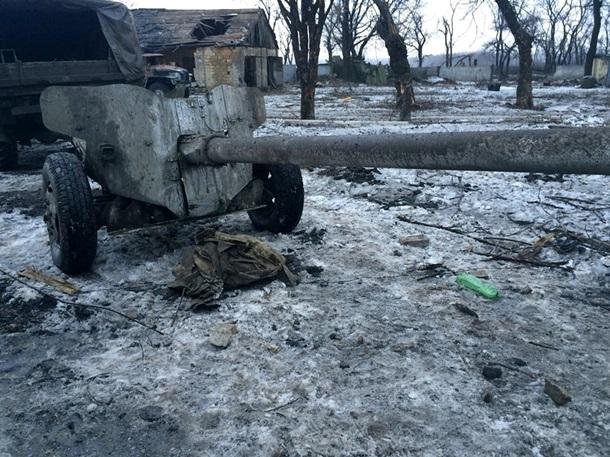 Фото разбитой колонны ВСН под Авдеевкой