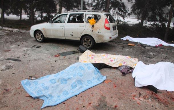 Обстрел Донецка 30 января