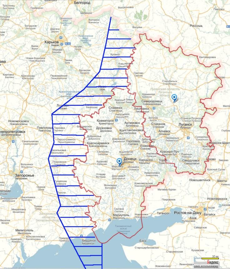 Первый этап наступления Армии ДЛНР: освобождение Донбасса и установление демилитаризованного коридора по периметру.