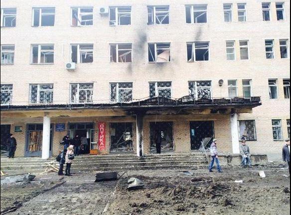 Донецке под обстрел попала больница №27