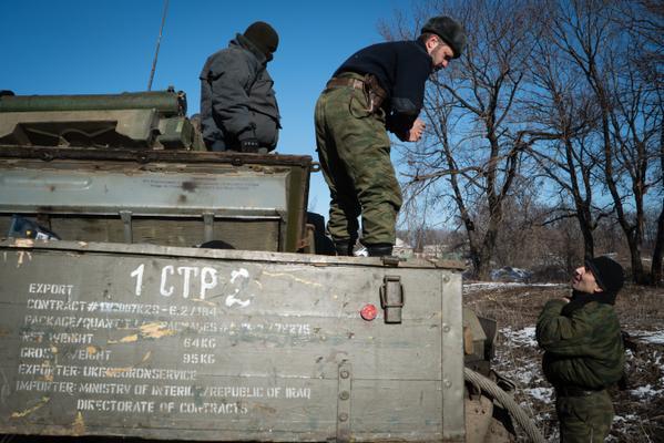 Ящик Укроборонсервиса из Ирака приехал в Углегорск и оказался вместе с танком у ДНР.