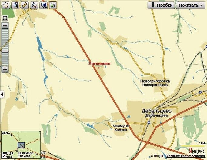 Логвиново на карте