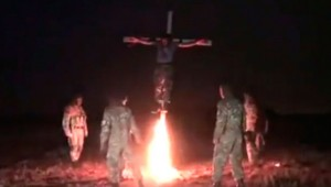 The Nazis of Azov, crucified and burned alive captive volunteer