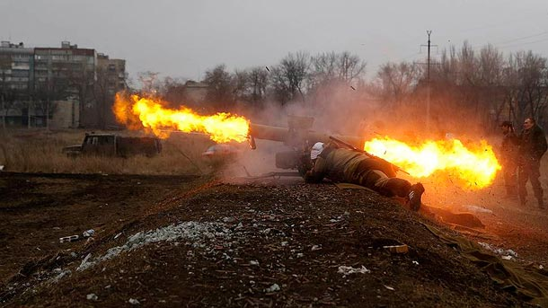 Бои под Донецком и Мариуполем 13.04