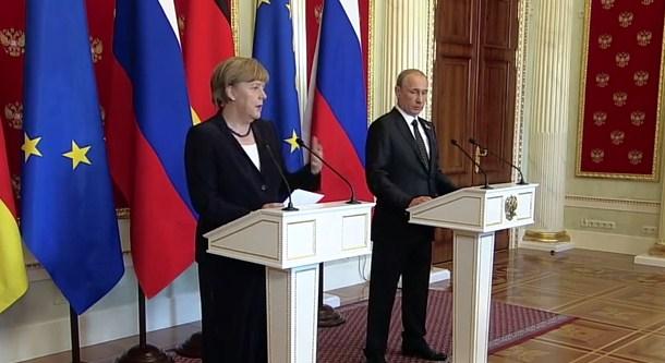 Совместная пресс-конференция В В Путина и Ангелы Меркель
