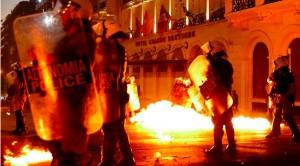 Беспорядки в Греции 15-16 июля (фото, видео)