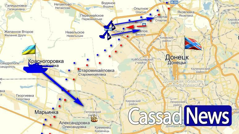 обстрел Донецка 18 июля