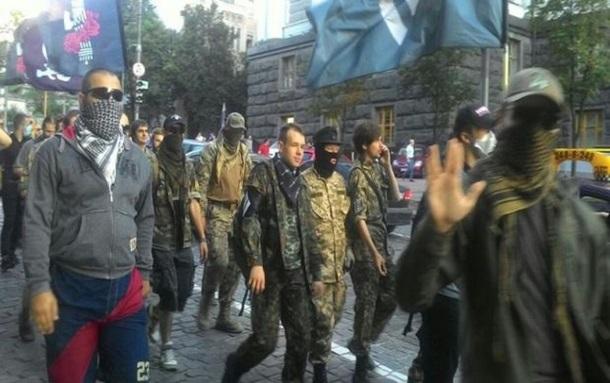 Киев: Марш добровольческих батальонов (онлайн видео)