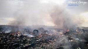 Новое видео снятое ополченцами сразу после падения Boeing-777