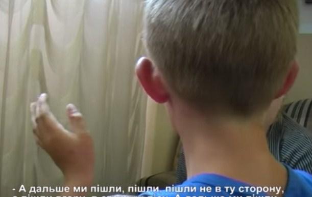 Интервью с мальчиком - заложником Правого сектора (видео)