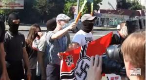 акция протеста у российского посольства в Киеве