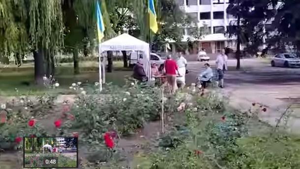 """Как в Мариуполе собирали митинговали против вывода """"Азова"""""""