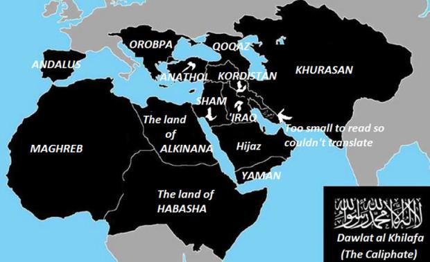 Планы ИГИЛ, карта