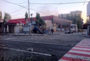Последствия обстрела Донецка 18 июля (фото, видео)