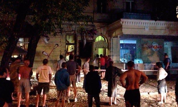 В Одессе взорвали кафе евромайдановца
