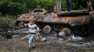 В Донецке трое детей подорвались на снаряде