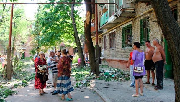 о последствиях обстрела Горловки 9 августа
