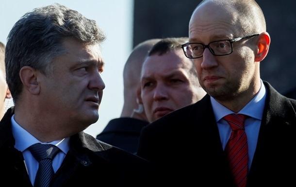 Партии Яценюка и Порошенко объединятся перед выборами
